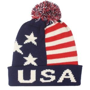 Other - AMERICAN USA FLAG WINTER BEANIE CAP HAT MEN